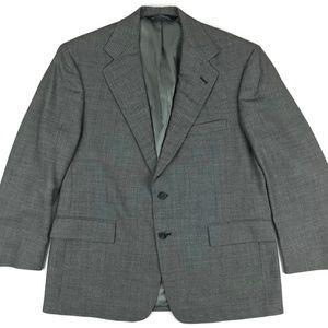 Ralph Lauren Hopsack Gray Suit Jacket Blazer 42S